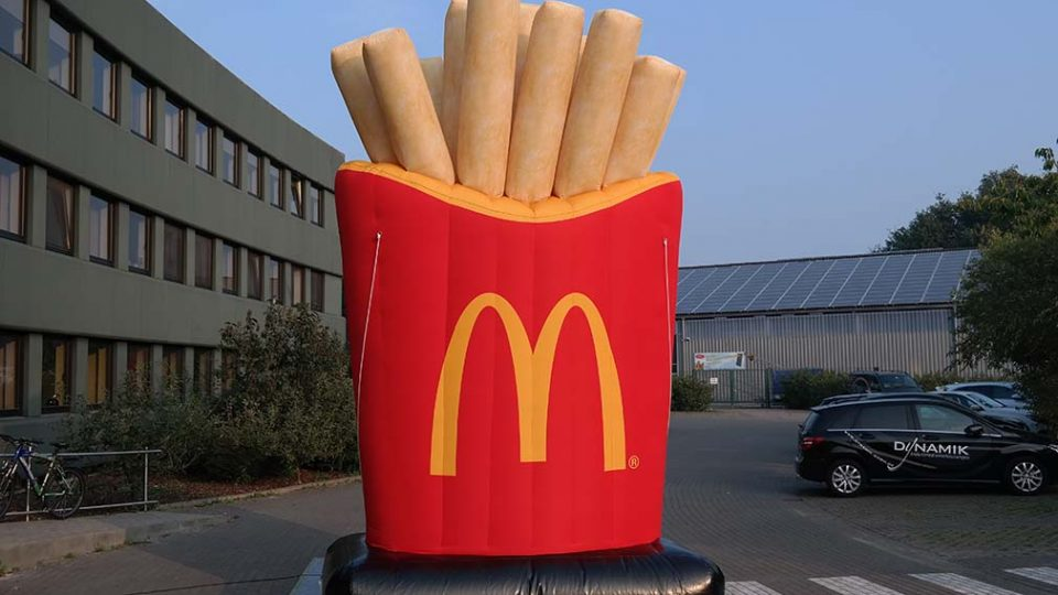 inflatable Mc Donald's fries