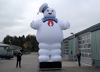 Inflatable Marshmallow Ghost 7 m for David Garret