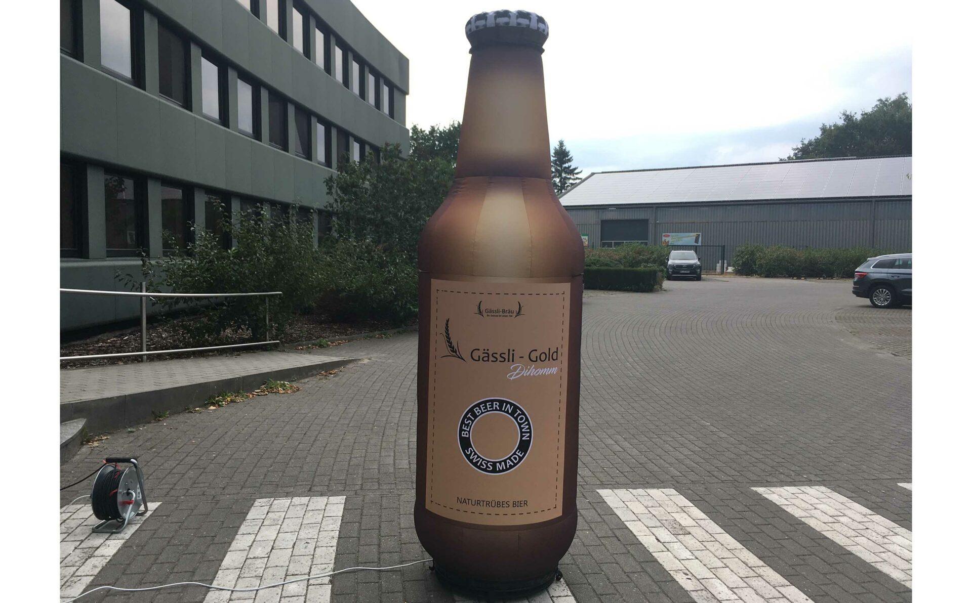 inflatable beer bottle