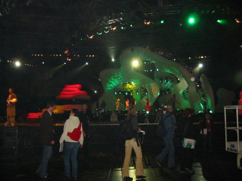 Specially designed stage objects for concerts and music events
