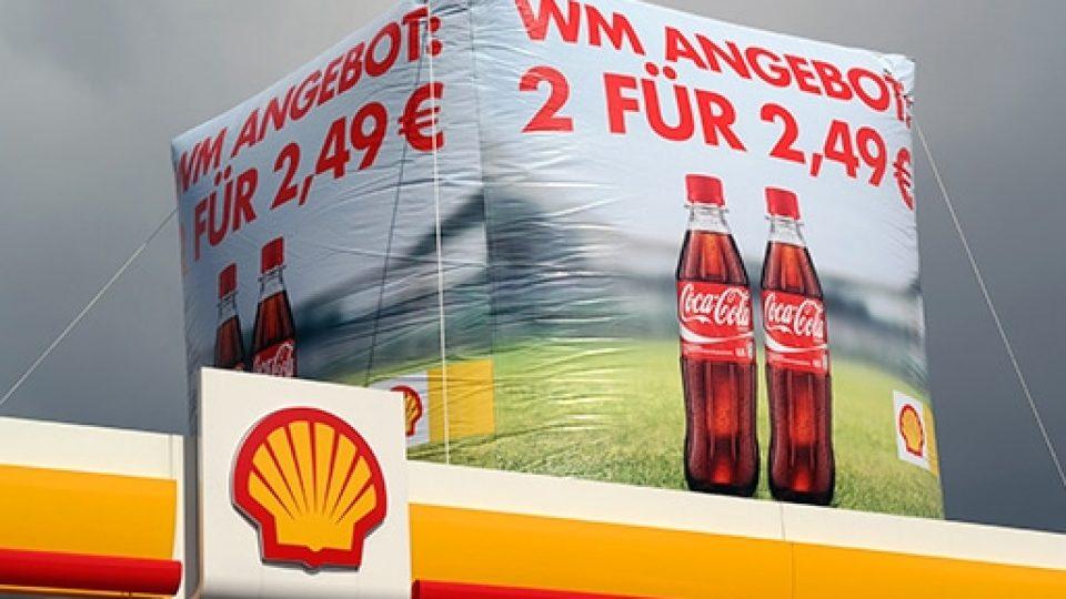 Dachwerbung Carglass Werbewürfel