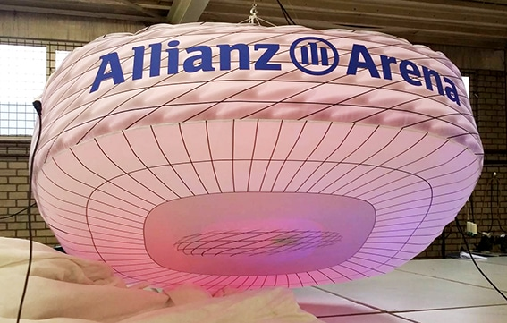 Inflatable replica of allianz-arena