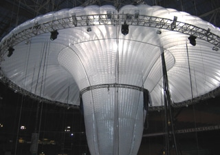 Inflatable giant art oject for events and exhibiton