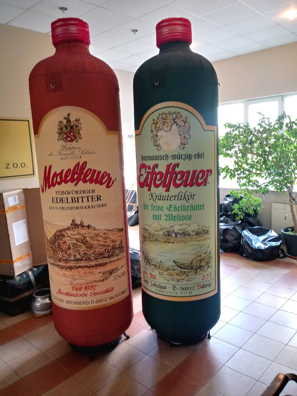 Aufblasbare Flaschen