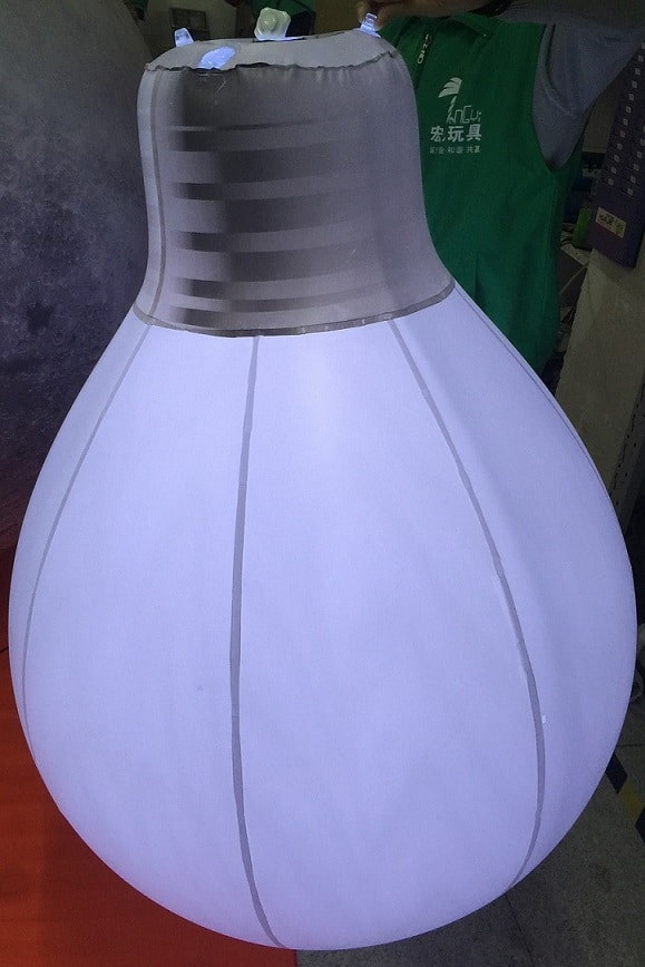 Inflatable bulb with LED lighting