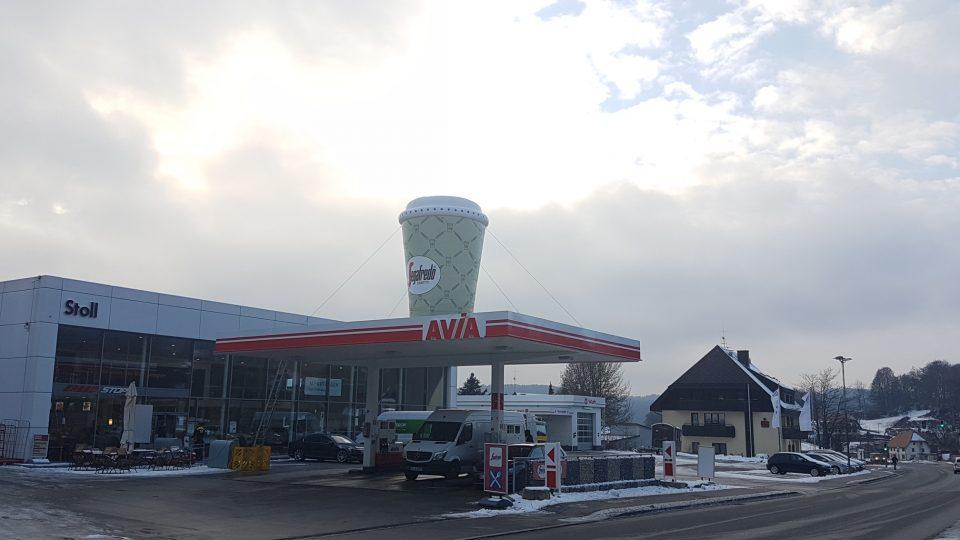 Aufblasbare Dachwerbung Tankstelle