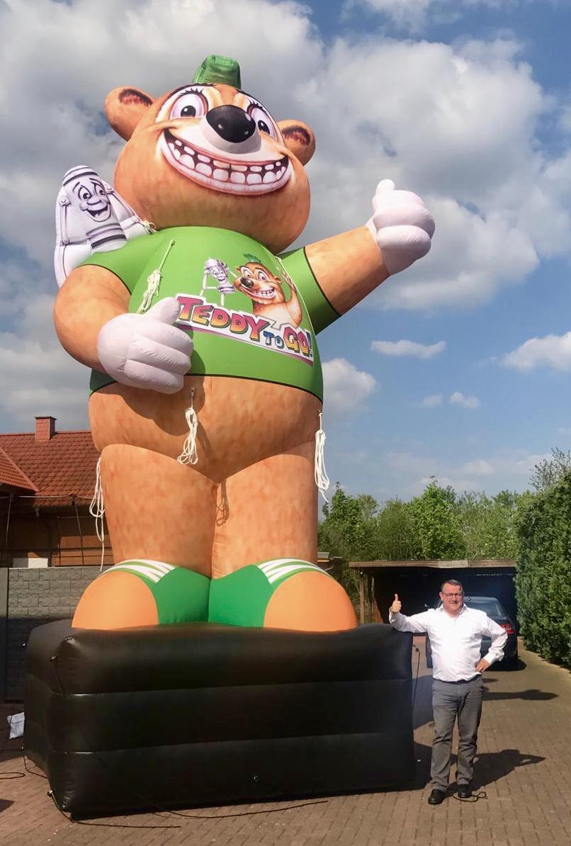 Aufblasbarer Riesen-Teddy
