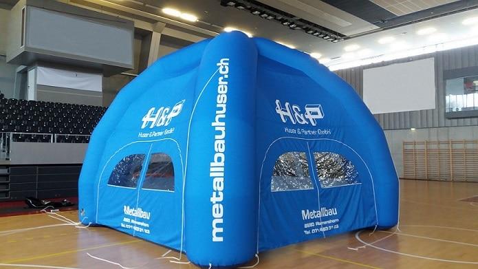 Zelt aufblasbar 5×5 m