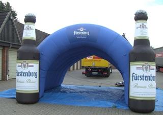 Aufblasbarer Einlauftunnel für Sport Veranstaltungen