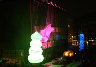 beleuchtete Outdoor Inflatables Jubiläum Roland Bremen