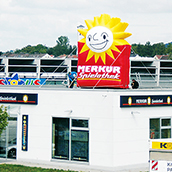 visible from afar inflatable XXL roof advertising