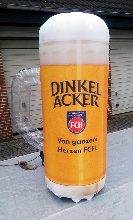 Dinkel Acker Bierglas