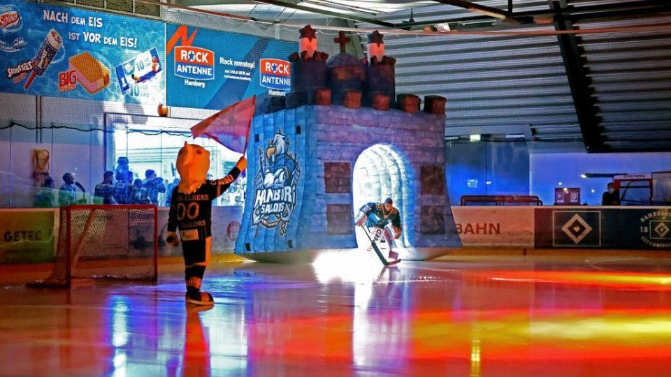 Einlauftunnel aufblasbar Hamburg Sailors Eishockey
