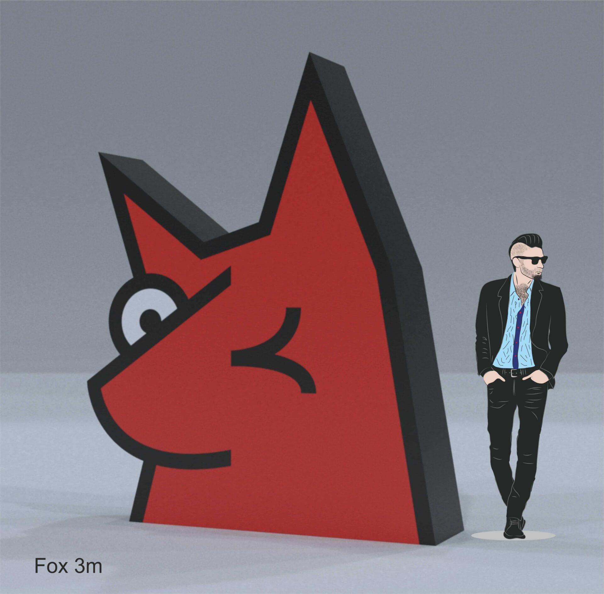 Afblasbarer Fuchs 3m