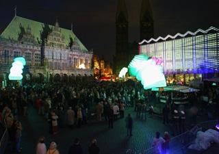 beleuchtete Outdoor Objekte für Veranstaltungen und Events
