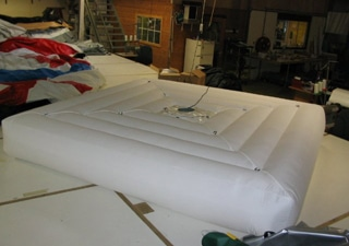 Manufacturing of inflatable art objects