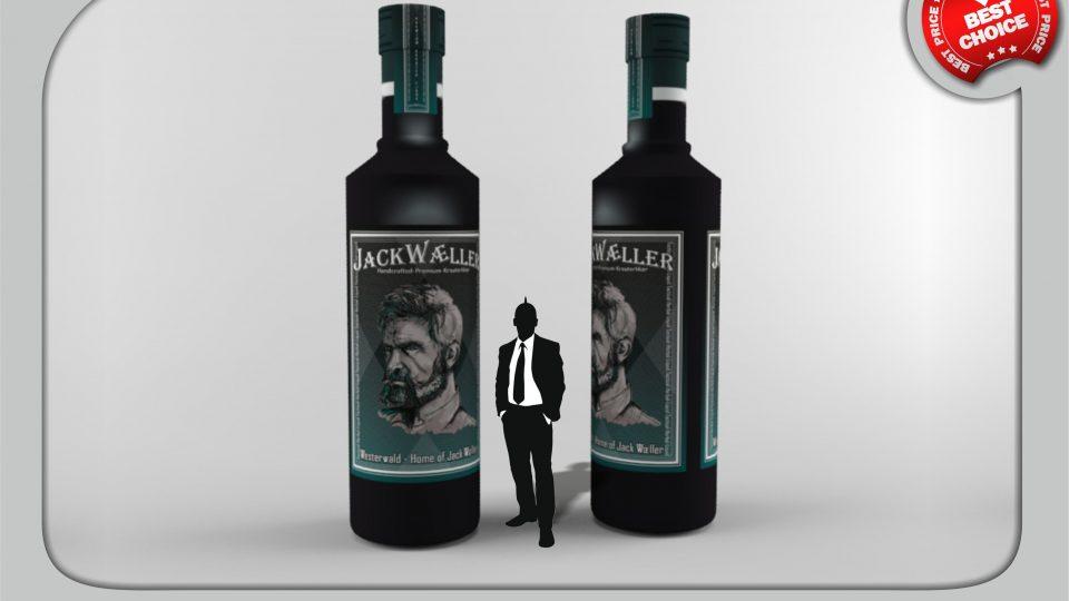 Jack´s Vermächtnis: Kräuterlikör als 4 Meter hohe Flasche