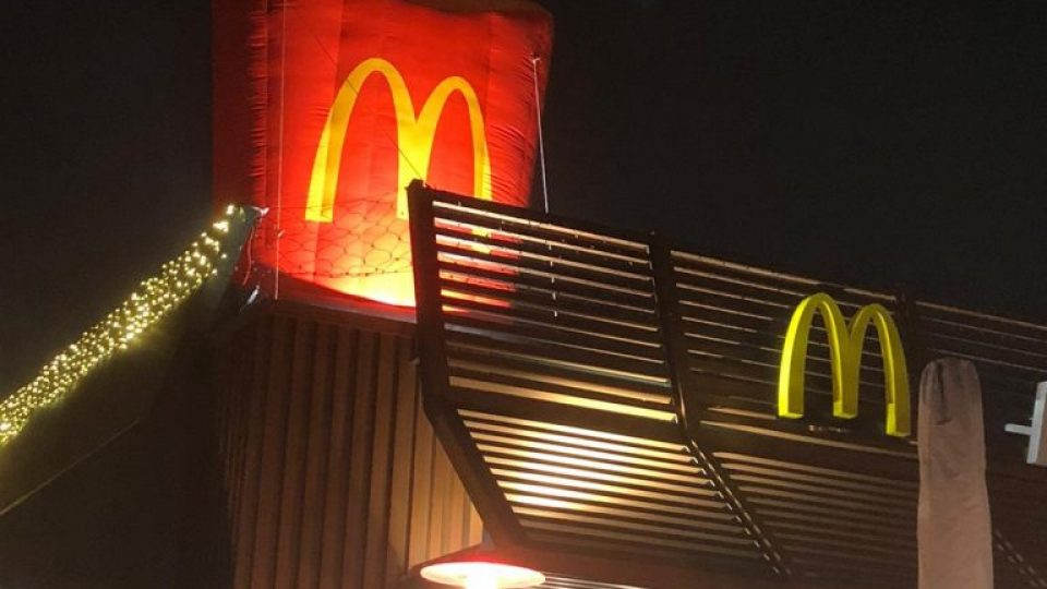 Mc-Donalds-Dachwerbung