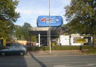 gut sichtbare Tankstellen Werbung Inflatable
