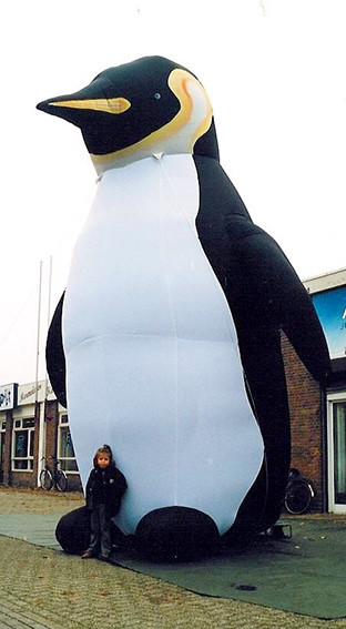 Inflatable giant penguin
