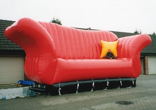 Inflatable giant couch