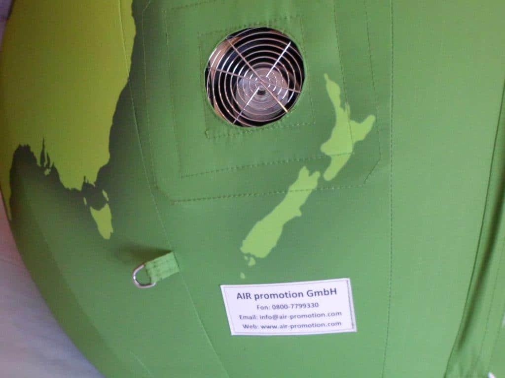 Globus 2 m durchmesser mit gebl se air promotion for Stahlwandbecken 2 m durchmesser