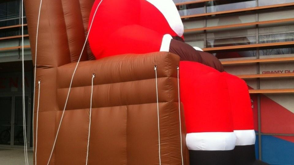 Aufblasbarer Weihnachtsmann