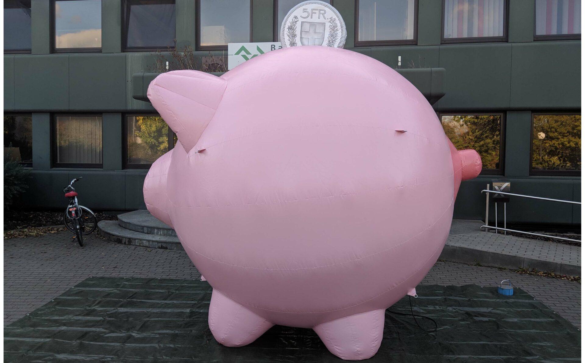 aufblasbares Sparschwein