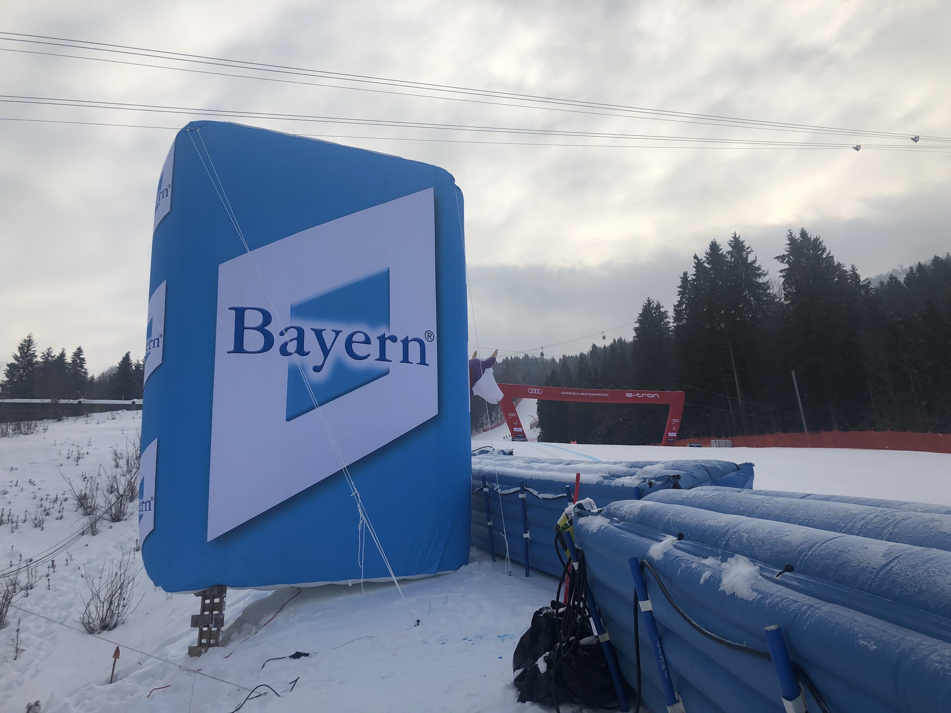 Aufblasbare Bayern-Wand-Skiweltcup