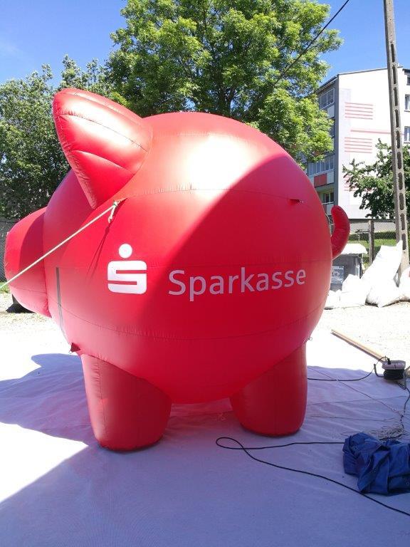 aufblasbares Schwein 3m