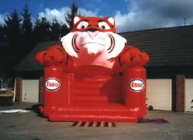 Esso Tiger bouncy castle