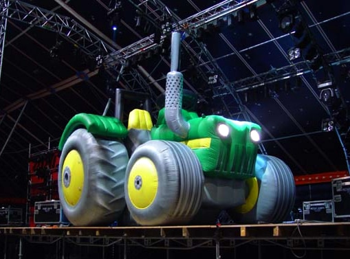 Inflatable tractor