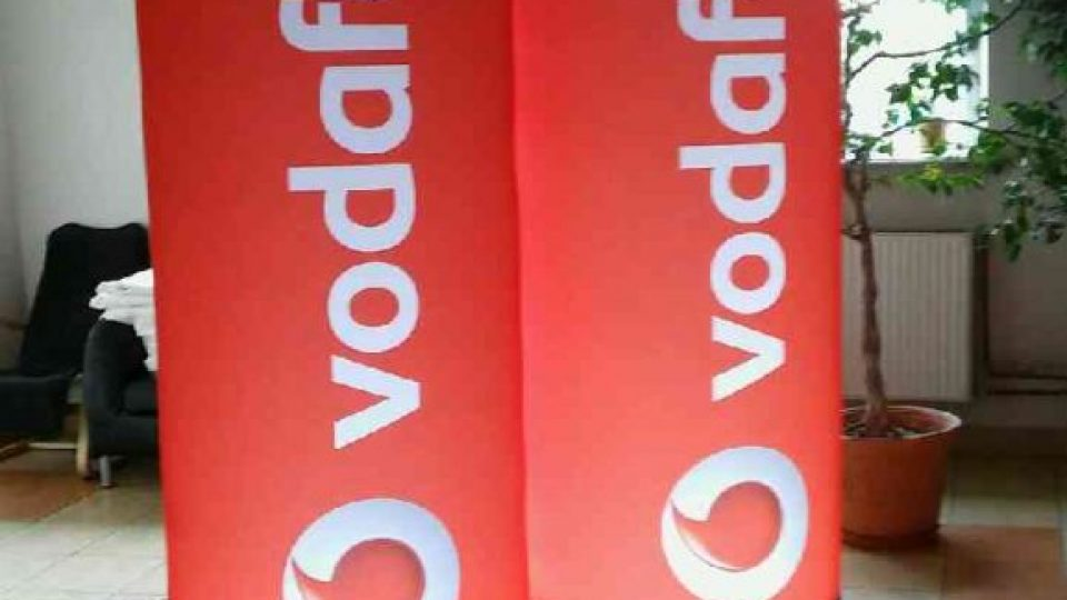 Vodafone Werbesäule