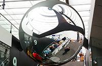 Aufblasbare Chrom-Kugel mit Spiegeleffekt