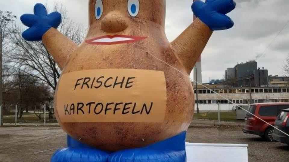 aufblasbare Comic-Kartoffel