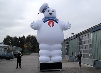 Aufblasbarer Marshmallow Geist David Garret Show