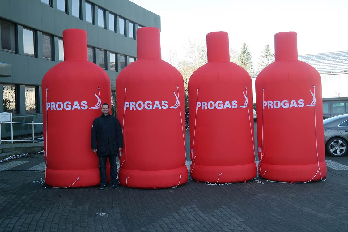 Inflatable gas bottle of PROGAS