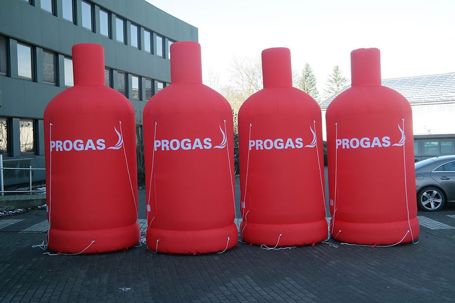 Inflatable PROGAS bottle'