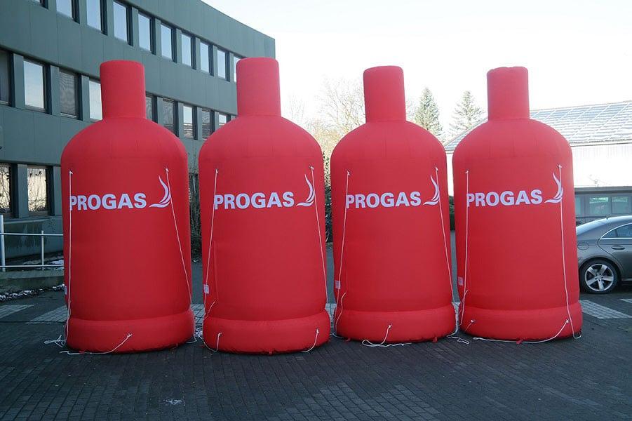 Aufblasbare PROGAS Flaschen
