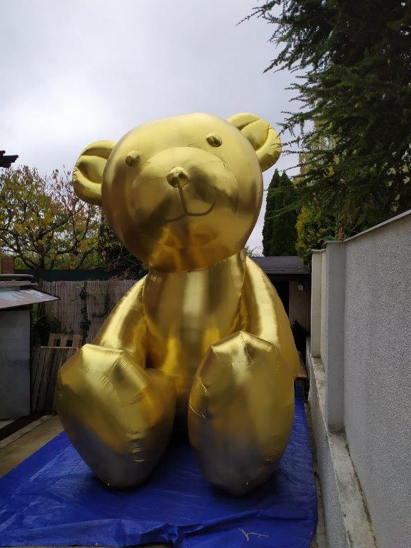 aufblasbarer Gold-Teddy