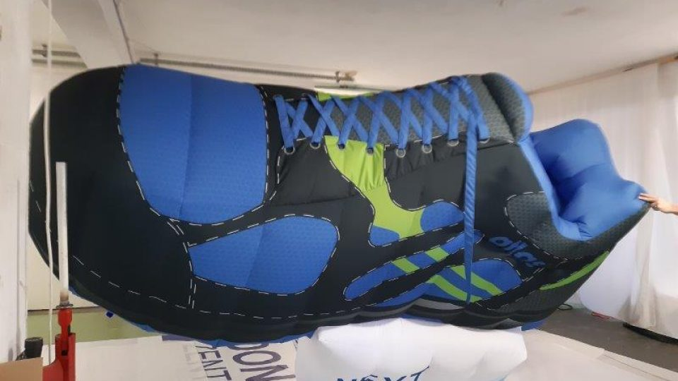 aufblasbarer Schuh