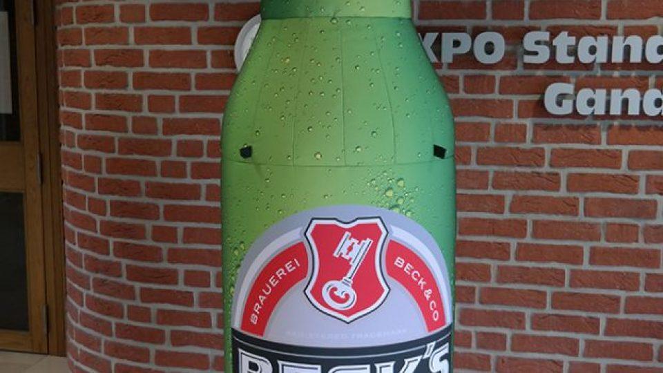 Aufblasbare Beck´s Bier Flasche