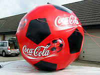 Inflatable giant Coca Cola ball