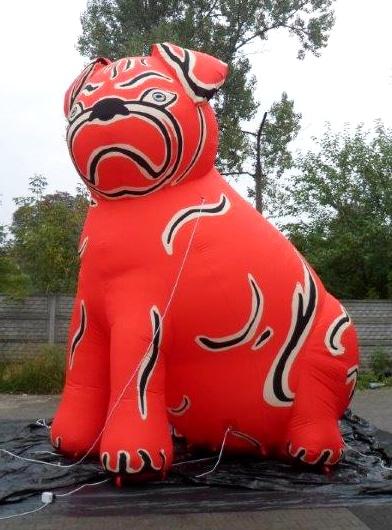 Aufblasbarer Riesen-Hund Ausstellung