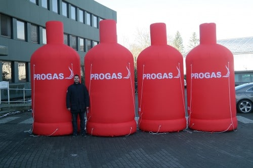 Aufblasbare Gasflaschen