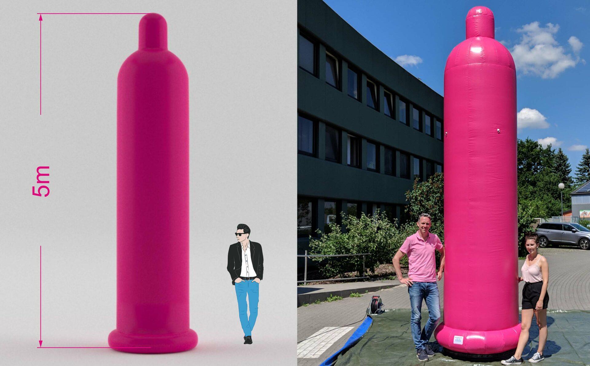 aufblasbares Kondom 5m hoch