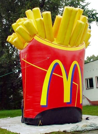 Inflatable Mc Donalds fries bag