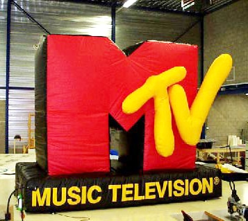Inflatable MTV Logo