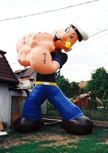 Aufblasbare Comic Figur Popeye