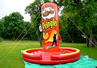 Inflatable climbing mountain Pringles chips